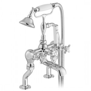 Booth & Co by Vado BC-AXB-131-CP Deck Mounted Bath Shower Mixer with Shower Kit Chrome