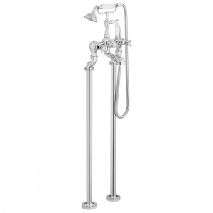 Booth & Co by Vado BC-AXB-133-CP Floor Standing Bath Shower Mixer (Crosshead) Chrome