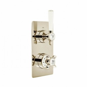 Booth & Co by Vado BC-AXB-148/2-BN Concealed Thermostatic Valve 2 Outlets 2 Handles Nickel