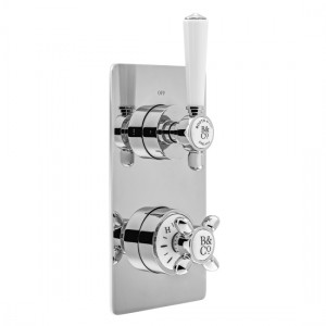 Booth & Co by Vado BC-AXB-148-CP Concealed Thermostatic Valve 1 Outlet 2 Handles Chrome