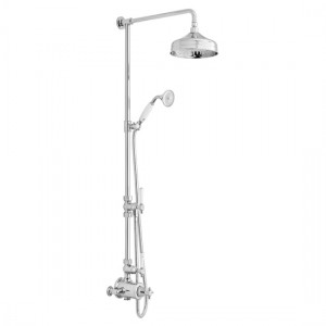 Booth & Co by Vado BC-AXB-149/RRK-CP 2 Outlet Exposed Shower Column Chrome
