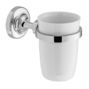 Booth & Co by Vado BC-AXB-183-CP Ceramic Tumbler & Holder Chrome
