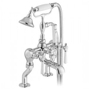 Booth & Co by Vado BC-AXB-231-CP Deck Mounted Bath Shower Mixer with Shower Kit Chrome