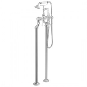 Booth & Co by Vado BC-AXB-233-CP Floor Standing Bath Shower Mixer (Lever) Chrome