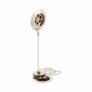 Booth & Co by Vado BC-KITB-STOW-BN Stowaway Bath Waste with Metal Plug and Chain