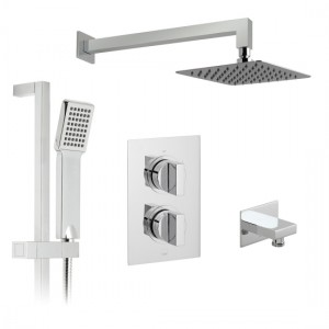 Vado DX-172250-NOT-CP Notion Thermostatic Showering Set 2 Outlets 2 Handles
