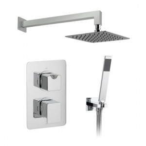 Vado DX-172251-PHA-CP Phase Thermostatic Showering Set 2 Outlet 2 Handles