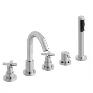 Vado ELW-135-3/4-C/P Elements 5 Hole Bath Shower Mixer Tap