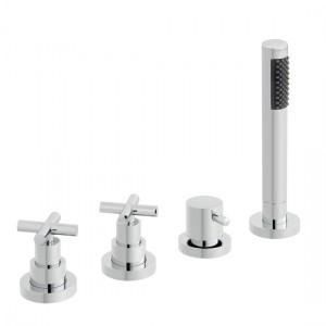 Vado ELW-135/NS-3/4-C/P Elements 4 Hole Bath Shower Mixer Tap without Spout