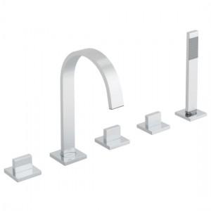 Vado GEO-135-3/4-C/P Geo 5 Hole Bath Shower Mixer Tap