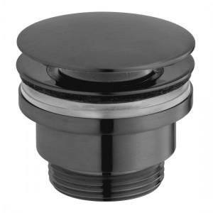 Individual by Vado IND-395-BLK Universal Basin Waste Brushed Black
