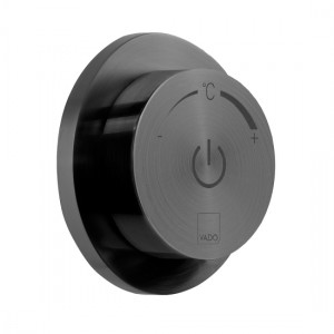 Individual by Vado IND-DIA1000-BLK Sensori SmartDial 1 Outlet Control Brushed Black