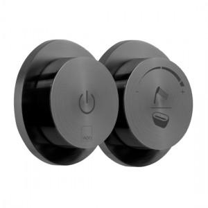 Individual by Vado IND-DIA2700-BLK Sensori SmartDial 2 Outlet Bath Control Brushed Black