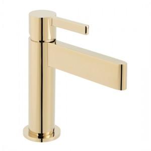 Individual by Vado IND-EDI100/SB-BG Edit Smooth Bodied Mono Basin Mixer Bright Gold
