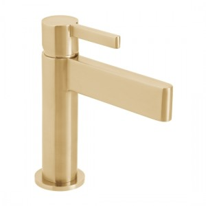 Individual by Vado IND-EDI100/SB-BRG Edit Smooth Bodied Mono Basin Mixer Brushed Gold