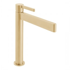Individual by Vado IND-EDI100E/SB-BRG Edit Extended Smooth Bodied Mono Basin Brushed Gold