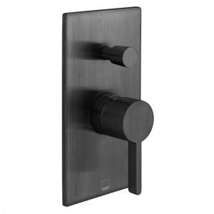 Individual by Vado IND-EDI147A-BLK Edit Manual Shower Valve with Diverter Brushed Black