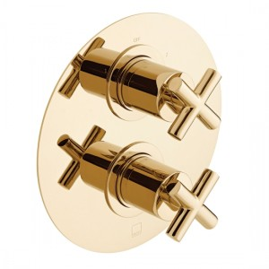 Individual by Vado IND-ELE148D/2-BG Elements DX2 Thermo Shower Valve Bright Gold