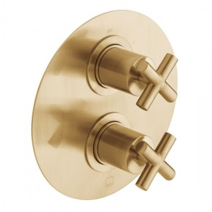 Individual by Vado IND-ELE148D/2-BRG Elements DX2 Thermo Shower Valve Brushed Gold