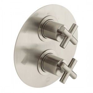 Individual by Vado IND-ELE148D/2-BRN Elements DX2 Thermo Shower Valve Brushed Nickel