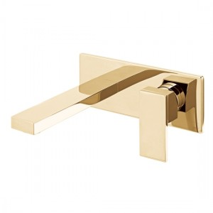 Individual by Vado IND-NOT109FS/A-BG Notion Wall Mounted Single Basin Mixer 200 x 80mm Bright Gold