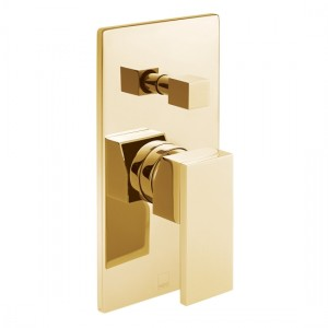 Individual by Vado IND-NOT147A-BG Notion Manual Shower Valve with Diverter Bright Gold