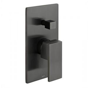 Individual by Vado IND-NOT147A-BLK Notion Manual Shower Valve with Diverter Brushed Black