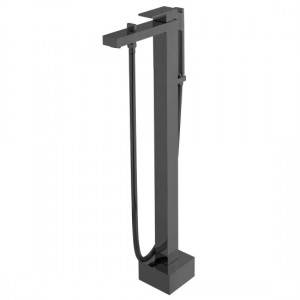 Individual by Vado IND-NOT233-BLK Notion Floor Standing Bath Shower Mixer Brushed Black