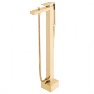 Individual by Vado IND-NOT233-BRG Notion Floor Standing Bath Shower Mixer Brushed Gold
