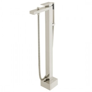 Individual by Vado IND-NOT233-BRN Notion Floor Standing Bath Shower Mixer Brushed Nickel