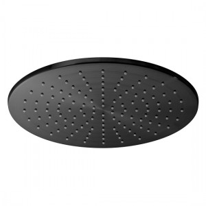 Individual by Vado IND-RO/30-BLK Round Single Function Easy Clean Shower Head 300mm Brushed Black