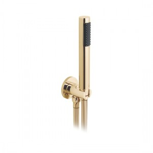 Individual by Vado IND-SFMKWO/RO-BG Round WM Mini Shower Kit with Outlet & Bracket Bright Gold