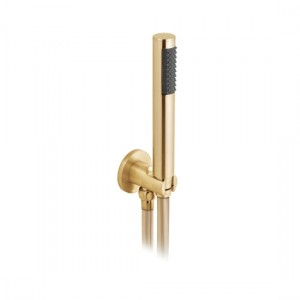 Individual by Vado IND-SFMKWO/RO-BRG Round WM Mini Shower Kit with Outlet & Bracket Brushed Gold