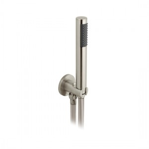 Individual by Vado IND-SFMKWO/RO-BRN Round WM Mini Shower Kit with Outlet & Bracket Brushed Nickel