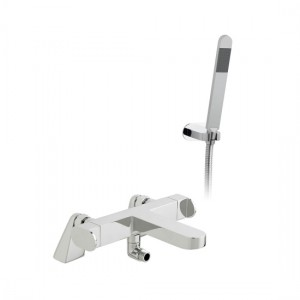 Vado LIF-131T+K-CP Life Deck Mounted Thermostatic Bath Shower Mixer with Shower Kit