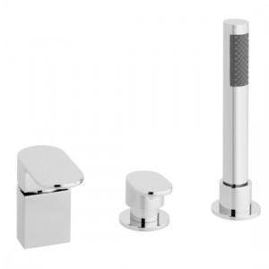 Vado LIF-132/NS-C/P Life 3 Hole Bath Shower Mixer Tap without Spout