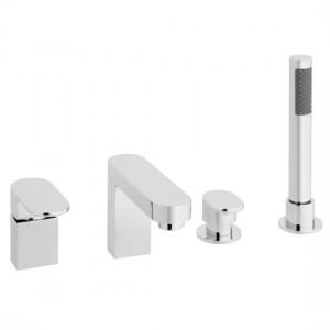 Vado LIF-132-C/P Life 4 Hole Bath Shower Mixer Tap