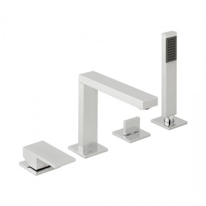 Vado NOT-232-CP Notion Deck Mounted Bath Shower Mixer 4 Tapholes Chrome