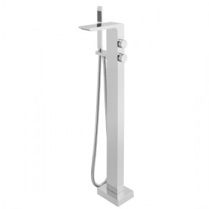 Vado OMI-133-C/P Omika Floor Standing Bath Shower Mixer Tap with Shower Kit