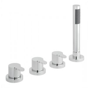 Vado SEN-135/NS-C/P Sense 4 Hole Bath Shower Mixer Tap without Spout