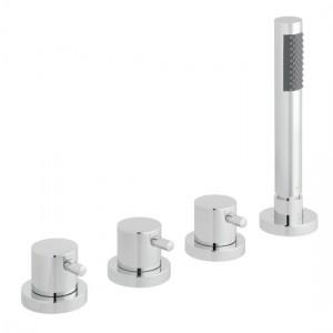 Vado ZOO-135/NS-3/4-C/P Zoo 4 Hole Bath Shower Mixer Tap without Spout