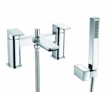 The White Space Veto Bath Shower Mixer with hose and handset - Chrome [VET5C]