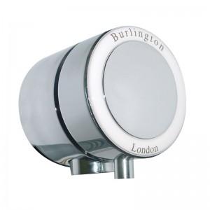 Burlington Overflow bath filler for single ended bath - Chrome/white [W15]