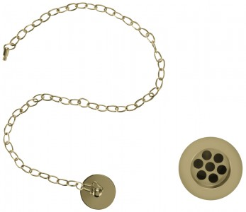 Burlington Plug and chain basin waste - slotted - Gold [W1GOLD]
