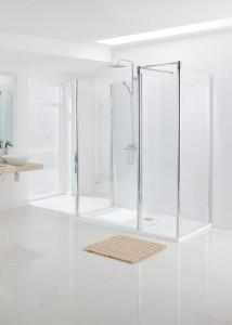 Lakes Classic - Semi Framless Walk-In: Return Panel 1000 x 1850mm  LWRP100S