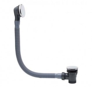 Tavistock WASTE21 Bath Sprung Plug Waste & Overflow 670mm - Chrome