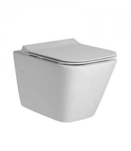 Tavistock Structure Slim Soft Close WC Seat with chrome fittings - White [TS451S]