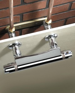 BRISTAN Recessed Wall Mount Fixing Chrome Plated
