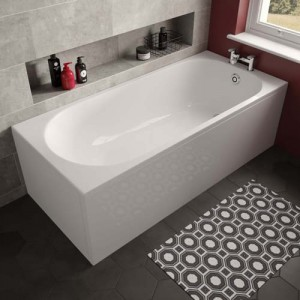 The White Space WSBA1570 Arnold Single Ended Bath 1480 x 685mm - White