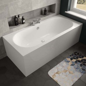 The White Space WSBM1770 Magnus Double Ended Bath 1700 x 700mm - White